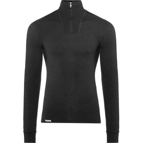 Woolpower Unisex 200 Zip Turtleneck black
